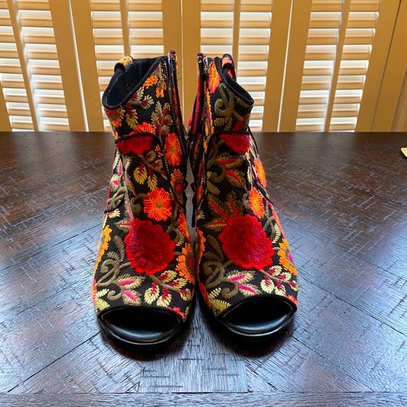 Crown Vintage Frankie Ankle Open Toe Booties
